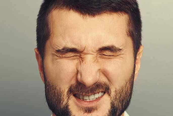 Man with Blepharospasm