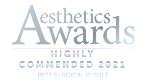 highly commended Best Surgical Result Award 2021